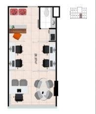 Mondial Office - Planta baixa - Single Opção