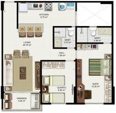 Planta Baixa - Apartamento Tipo - Coluna 01