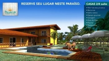 Perspectiva da fachada do Itacimirim Summer Houses