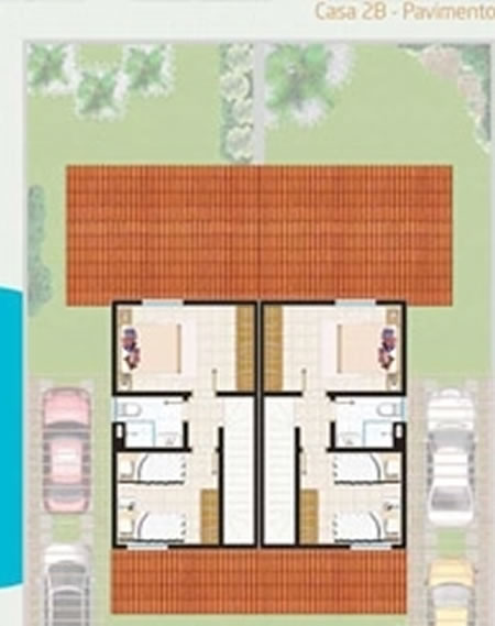 Planta Baixa – Casa 2B – Pavimento