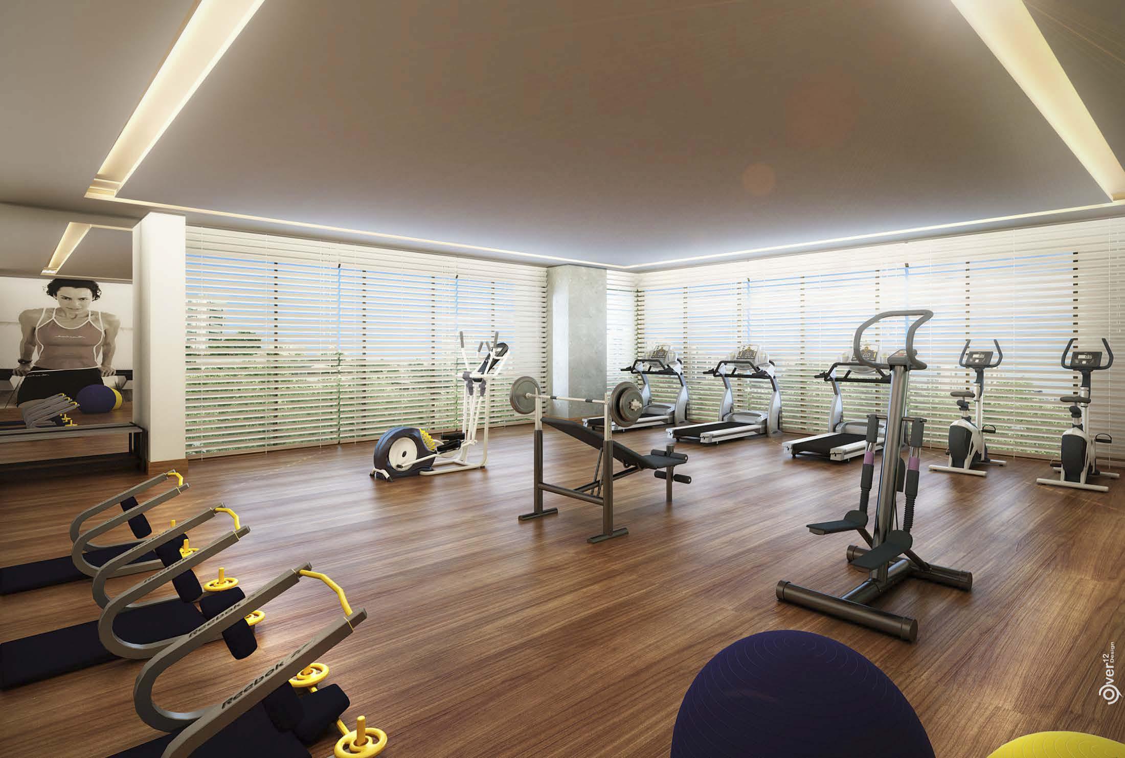 Perispectiva do espaço fitness