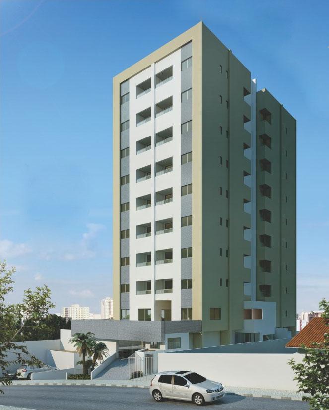Perspectiva da fachada do Residencial Recanto da Vila