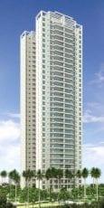 Perspectiva da fachada 120m2
