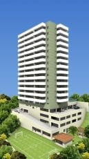 Perspectiva da fachada do Residencial Torre Mariano