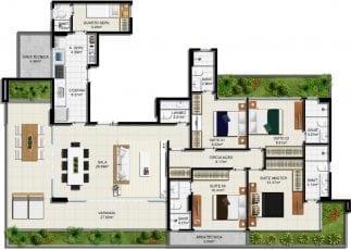 Planta baixa - Apartamento Tipo