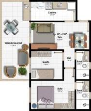 Planta Baixa - Apartamento Tipo - Coluna 02