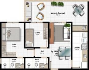 Planta Baixa - Apartamento Tipo - Coluna 03