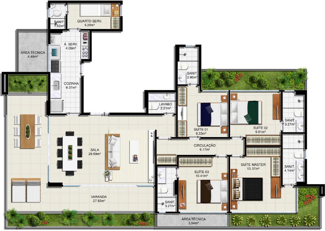 Planta baixa – Apartamento Tipo