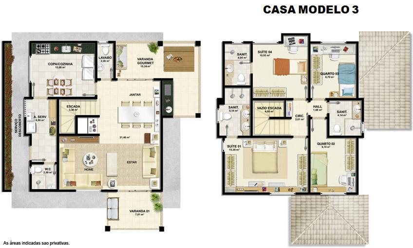 Planta baixa – Casa modelo 3