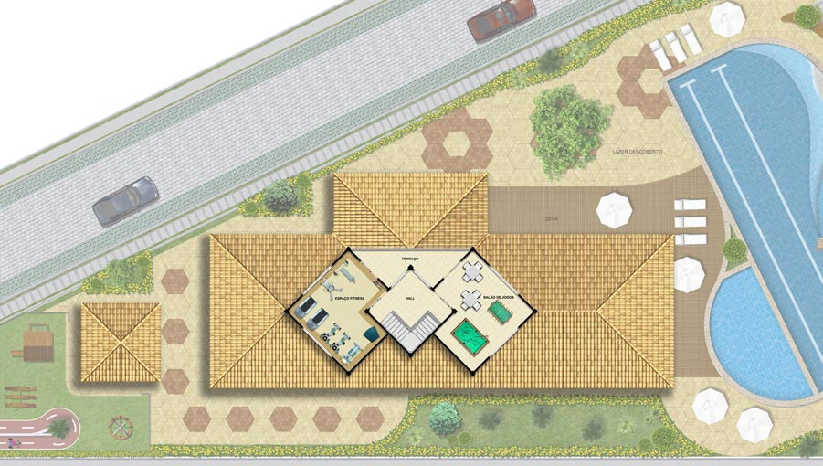 Planta baixa – Clube pavimento superior