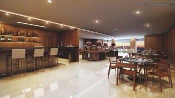 Perspectiva do Salão de Recepções do La Vue Ladeira da Barra, apartamento 4 quartos e apartamento cobertura no bairro da Barra em Salvador