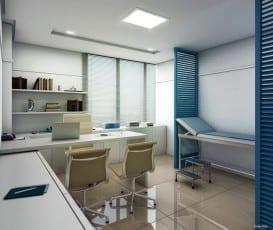 Perspectiva da sala médica