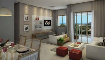 Perspectiva Living ampliado - 82,02 m2, do do Stupendo.