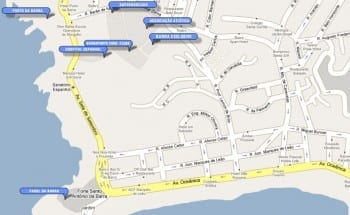 Perspectiva localização do Barra Exclusive, localizado no bairro da Barra, em Salvador.