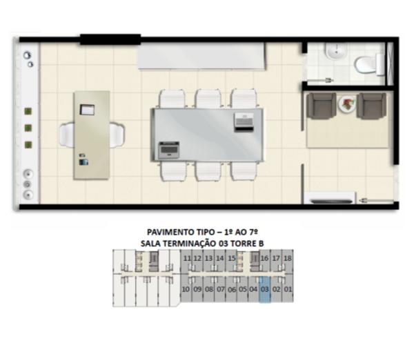 Planta Baixa do Dual Medical & Business – Sala Empresarial