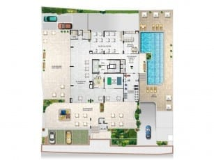 Planta Baixa Playground do Atlantic House, localizado no bairro de Jardim Armação, em Salvador.