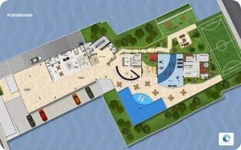 Planta Baixa Playground Ondina Ocean, localizado no bairro de Ondina, em Salvador.