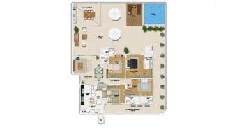 Solarium de 4 suítes com 320,82 m² de área privativa
