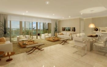 Apartamento Perspectiva ilustrada do living Rivière