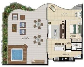 Planta Baixa do empreendimento com 147 m² A