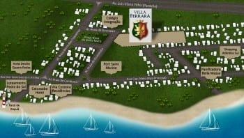 Mapa localização Villa Ferrara