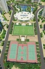 Perspectiva Ilustrada da vista aérea das Quadras