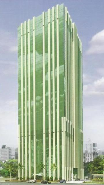 Perspectiva da fachada do Metropolitan Aquarius.