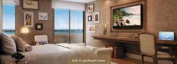 Apartamento Linear - Suíte do empreendimento.