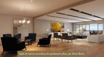 Apartamento Pleno - Opção de sala de convivência - do empreendimento.
