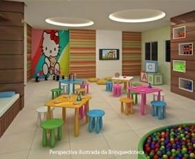 Perspectiva da Brinquedoteca do Máximo Club Residence.