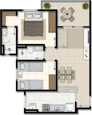 Planta baixa - Apartamentos com final 01, 04, 05 e 08 do empreendimento.