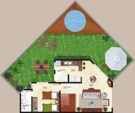 Planta baixa - Blocos A e C - Tipo Duplex Térreo - Casas 07
