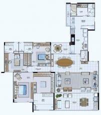Planta Baixa do Empreendimento Tipo 09 - 195,60 m²