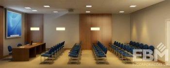 Perspectiva interna do auditório