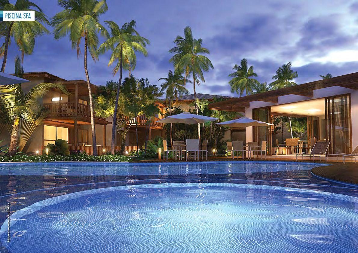 Perspectiva da piscina spa do Tavarua Itacimirim