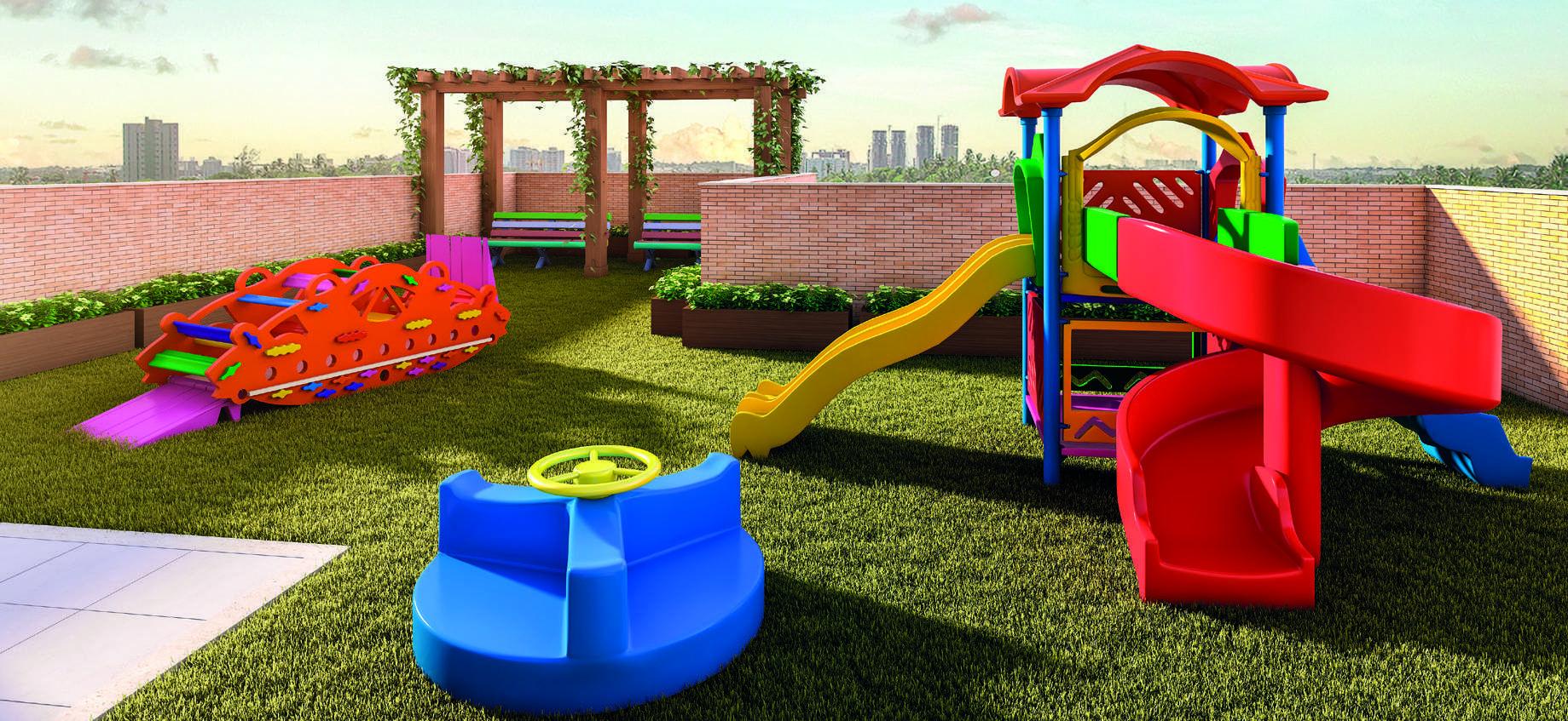 Perspectiva do parque infantil lrv im veis - Parque infantil casa ...