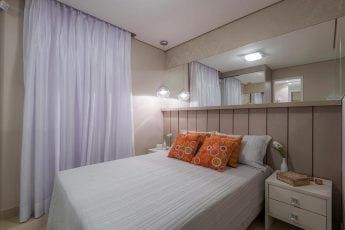 Foto do apartamento decorado - Quarto Casal