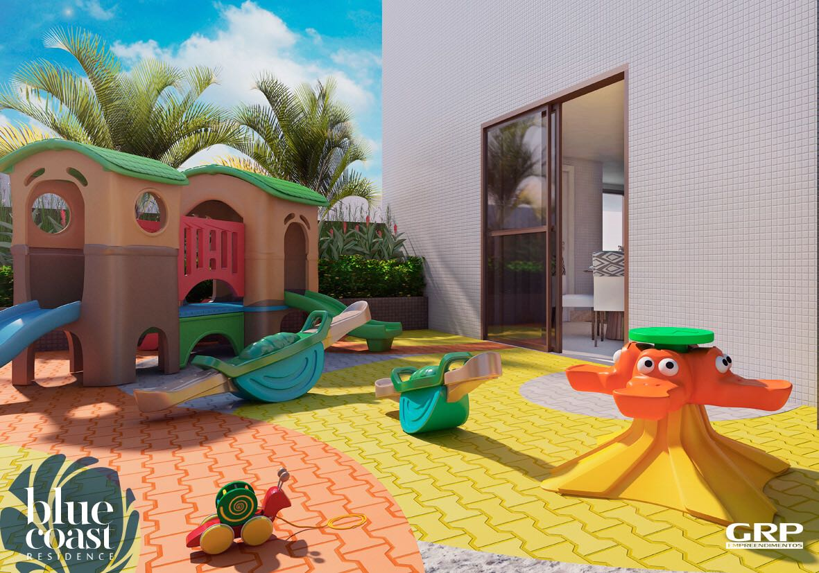 Perspectiva do Parqu Infantil do Blue Coast Residence