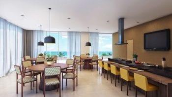 Perspectiva do Espaço Gourmet do Paradise Residence