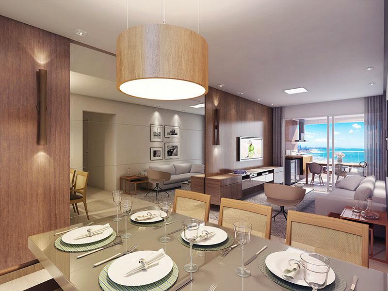 Perspectiva do Living do Paradise Residence