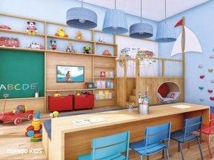 Perspectiva do Espaço Kids do Condomínio Reserva Sauípe