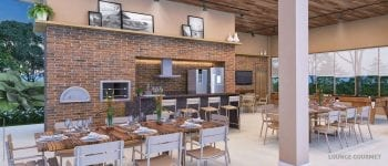 Perspectiva do Lounge Gourmet do Condomínio Reserva Sauípe
