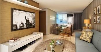 Foto do living do apartamento 2 quartos