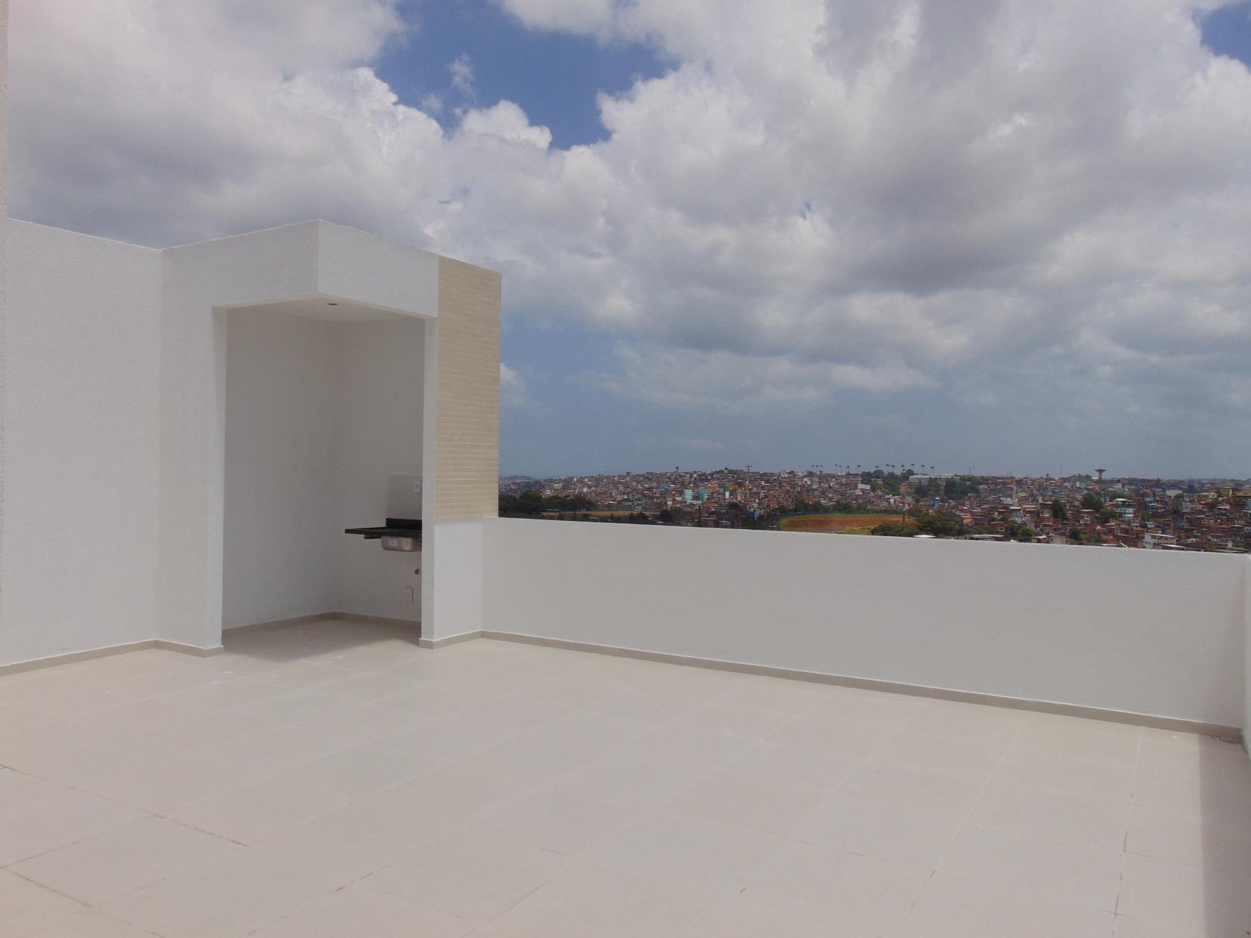 Apartamento Cobertura com 116m2 – Foto da ára externa da cobertura do Residencial Vista Bella