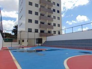 Foto da quadra poliesportiva do Residencial Vista Bella