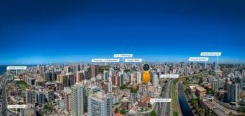Foto aérea da localização.