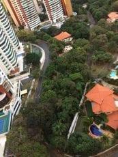 Foto aérea da área de implantação