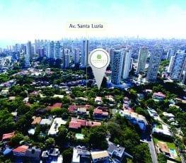 Foto aérea da localização do empreendimento TERRAZZO Santa Luzia