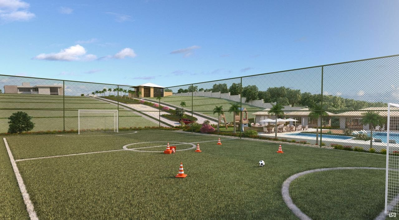 Perspectiva do campo de futebol do Residencial Alvorada.