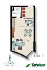 Planta baixa opção 01 do Salvador Office & Pool.